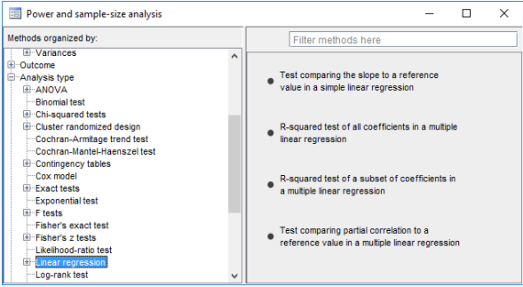 power analysis for linear regression