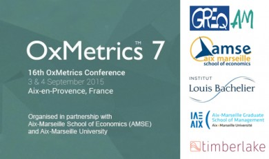 16th OxMetrics User Conference, Aix-Marseille University, Aix-en-Provence, France