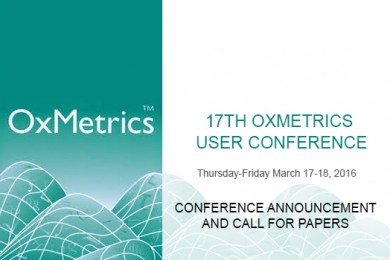 17th OxMetrics User Conference