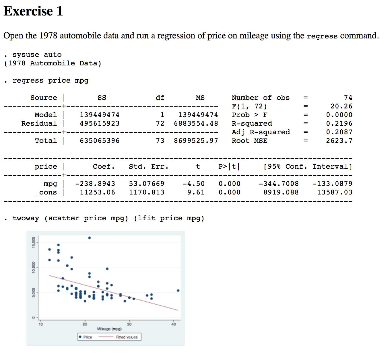 stata output Using outreg2 to report regression output, descriptive statistics, frequencies and basic crosstabulations is not a stata command.