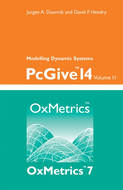 PcGive 14 Volume II: Modelling Dynamic Systems