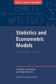 Statistics and Econometric Models Volume I