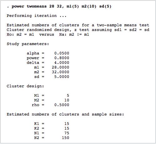 Cluster randomized designs
