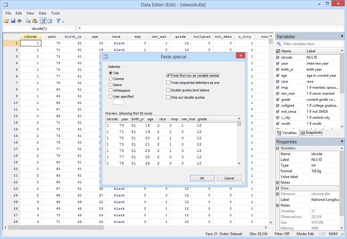 Data Editor