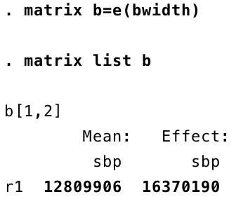 Stata output screenshot